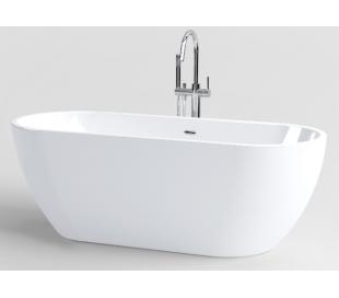 INBE fritstående badekar 170 x 67 cm Akryl - Hvid