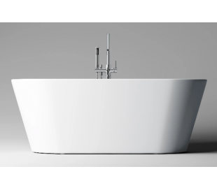 INBE fritstående badekar 165 x 73,5 cm Akryl - Hvid