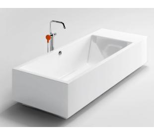 WASH ME fritstående badekar 220 x 85 cm Akryl - Hvid