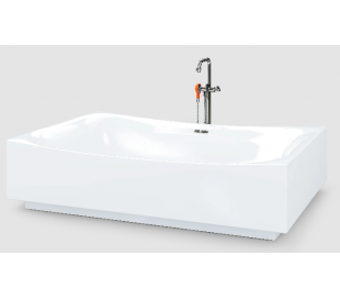 HAMMOCK fritstående badekar 200 x 140 cm Akryl - Hvid