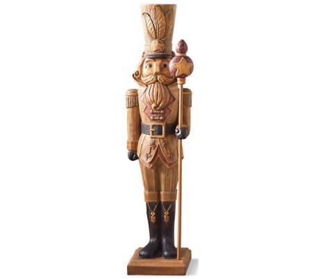 Luksus nøddeknækker soldat H124 cm - Antik brun