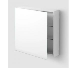 MATCH ME venstrevendt spejlskab 70 x 70 cm - Hvid højglans/Klar