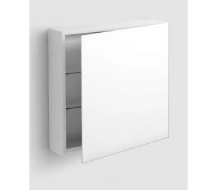 MATCH ME højrevendt spejlskab 70 x 70 cm - Hvid højglans/Klar