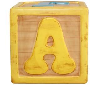 Legetøjsklods i fiberglas 55 x 55 x 55 cm - Antik gul