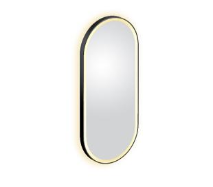 LOOK AT ME vægspejl med lys IP44 100 x 45 cm - Mat sort