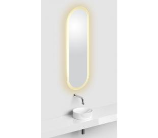 LOOK AT ME vægspejl med lys IP44 90 x 28 cm - Hvid satineret