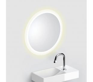 LOOK AT ME vægspejl med lys IP44 Ø40 cm - Hvid satineret