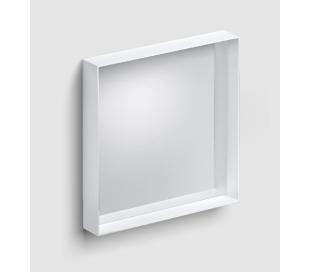 LOOK AT ME vægspejl 50 x 50 cm - Mat hvid