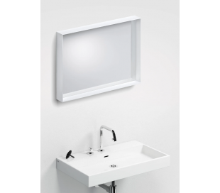LOOK AT ME vægspejl 70 x 50 cm - Mat hvid