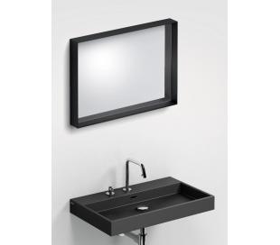 LOOK AT ME vægspejl 70 x 50 cm - Mat sort