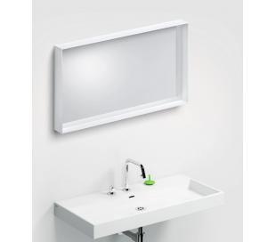 LOOK AT ME vægspejl 90 x 50 cm - Mat hvid