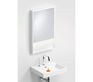 LOOK AT ME vægspejl med lys IP44 80 x 50 cm - Mat hvid