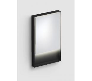 LOOK AT ME vægspejl med lys IP44 80 x 50 cm - Mat sort