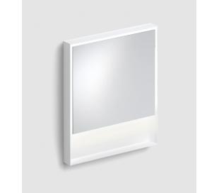 LOOK AT ME vægspejl med lys IP44 80 x 70 cm - Mat hvid