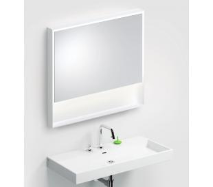 LOOK AT ME vægspejl med lys IP44 80 x 90 cm - Mat hvid