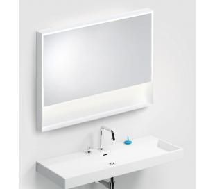 LOOK AT ME vægspejl med lys IP44 80 x 110 cm - Mat hvid