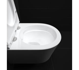 INBE Væghængt toilet D48 cm - Hvid højglans