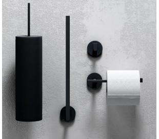 FLAT Toiletrulleholder til 3 ruller H30,6 cm - Mat sort