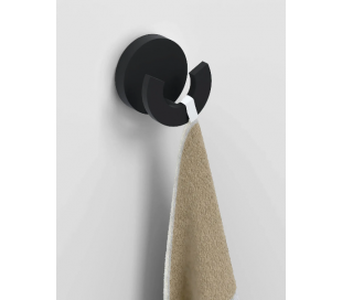FLAT Dobbeltkrog Ø4,8 cm - Mat sort