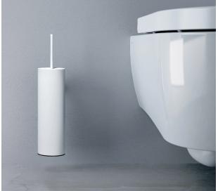 FLAT Væghængt toiletbørste H35 cm - Mat hvid