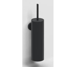 FLAT Væghængt toiletbørste H35 cm - Mat sort