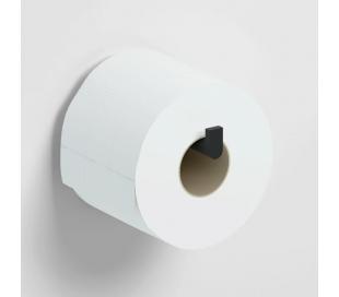 FLAT Toiletrulleholder D12,1 cm - Mat sort