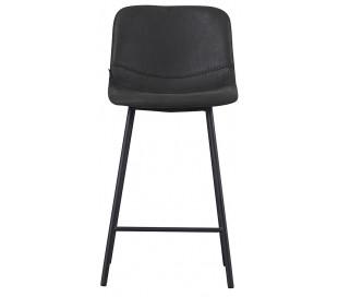 Mikky Barstol i øko-læder H96 - 107 cm - Sort/Vintage sort