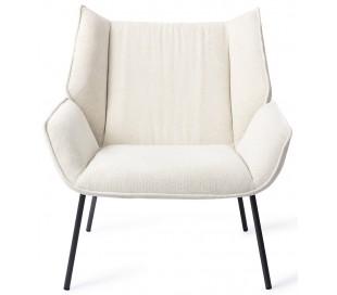Haruno Lænestol i polyester H89 cm - Sort/Beige