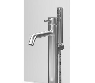 XO 13 Gulv armatur til badekar H89,65 cm - Børstet stål
