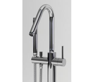 XO 7 Gulv armatur til badekar H102,5 cm - Krom