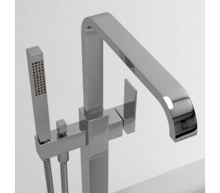 XO 3 Gulv armatur til badekar H99,5 cm - Krom