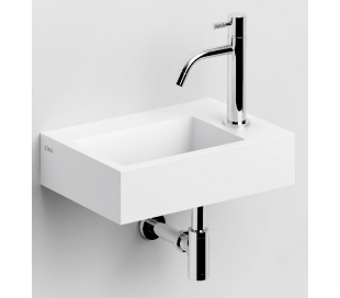 FLUSH 2 Håndvask 36 x 24,5 cm Aluite - Mat hvid