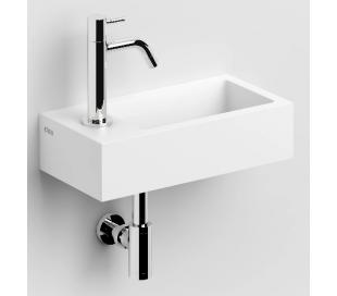 FLUSH 3 Håndvask 36 x 18 cm Aluite - Mat hvid