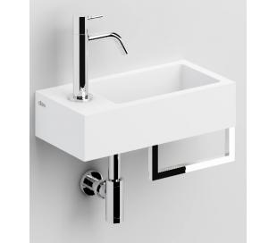 FLUSH 3 Håndvask med håndklædeholder 36 x 18 cm Aluite - Mat hvid