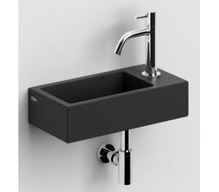 FLUSH 3 Håndvask 36 x 18 cm Keramik - Mat sort