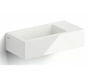FLUSH 3 Håndvask 36 x 18 cm Mineral - Hvid højglans