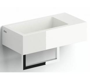 FLUSH 3 Håndvask med håndklædeholder 36 x 18 cm Mineral - Hvid højglans
