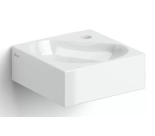FLUSH 5 Hjørne håndvask 27 x 27 cm Keramik - Hvid højglans