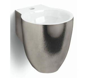 FLUSH 6 Håndvask 27 x 31,5 cm Keramik - Platinum/Hvid højglans