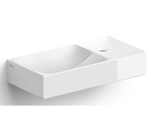 VALE Håndvask 38 x 19 cm Keramik - Hvid højglans