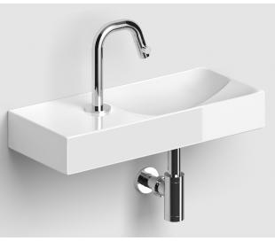 VALE Håndvask 45 x 19 cm Keramik - Hvid højglans