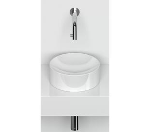 VALE Rund håndvask Ø22 cm Keramik - Hvid højglans