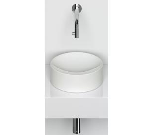 VALE Rund håndvask Ø22 cm Keramik - Mat hvid