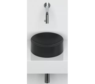 VALE Rund håndvask Ø22 cm Keramik - Mat sort