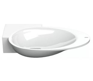 FIRST Håndvask 38,8 x 24,6 cm Mineral - Hvid højglans