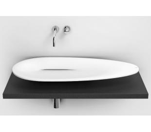 FIRST Håndvask 84 x 38 cm Aluite - Mat hvid