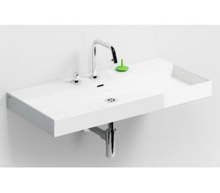 NEW WASH ME Håndvask 90 x 42 cm Keramik - Hvid højglans