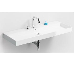 NEW WASH ME Håndvask 110 x 42 cm Keramik - Hvid højglans