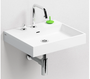 WASH ME Håndvask 50 x 42 cm Aluite - Mat hvid