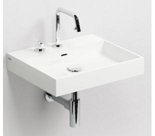 WASH ME Håndvask 50 x 42 cm Mineral - Hvid højglans